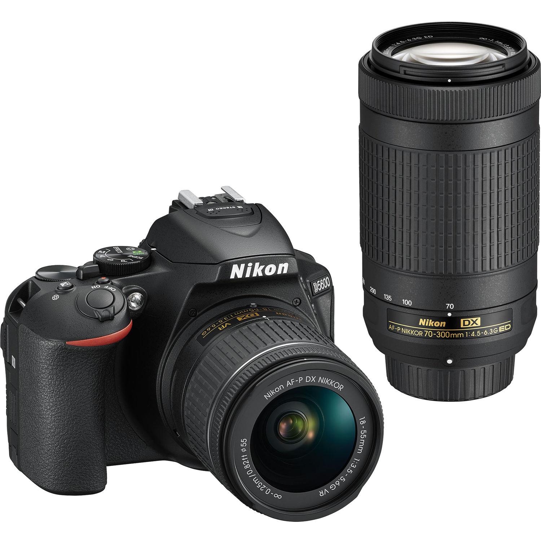 Nikon D5600 DSLR Camera with 18-55 and 70-300 Kit