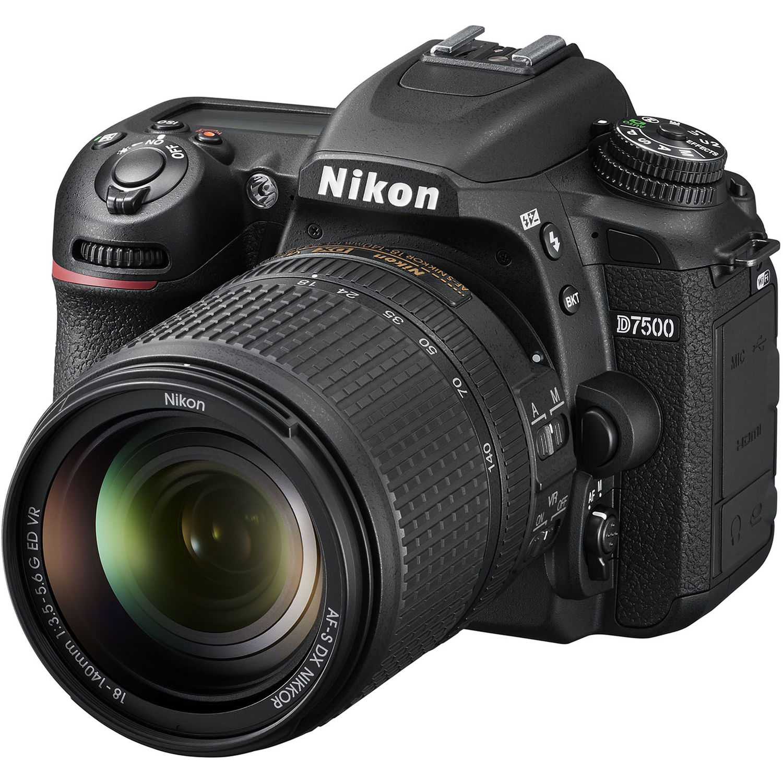 Nikon D7500 DX Digital SLR with 18-140mm  VR Lens
