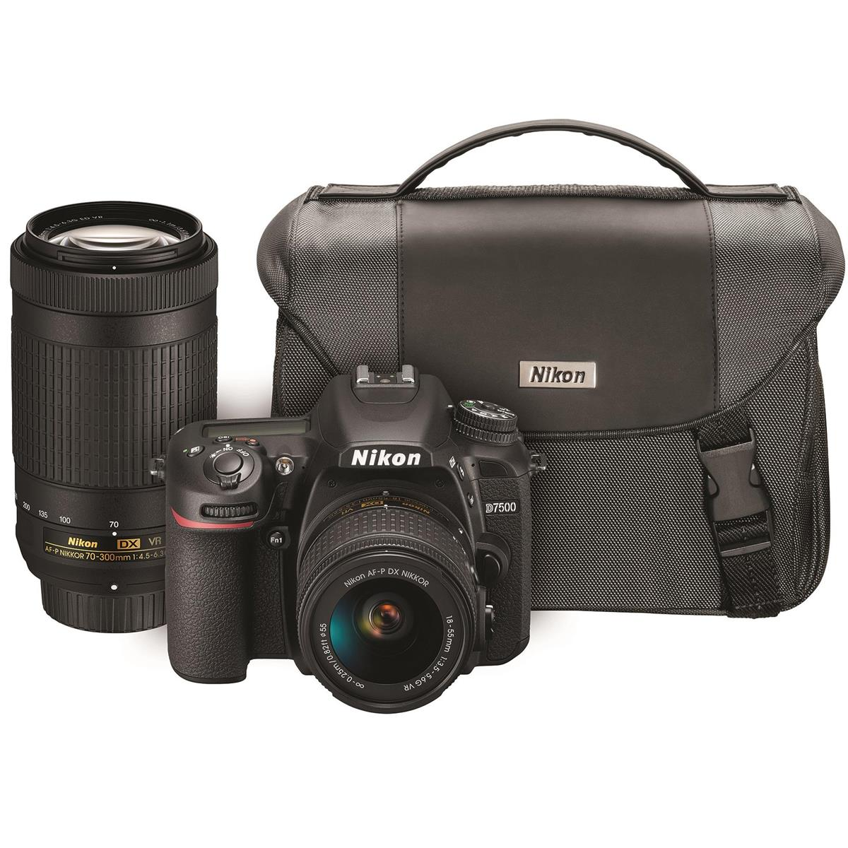 Nikon D7500 DSLR Camera with 18-55mm and and 70-300mm Lenses Kit