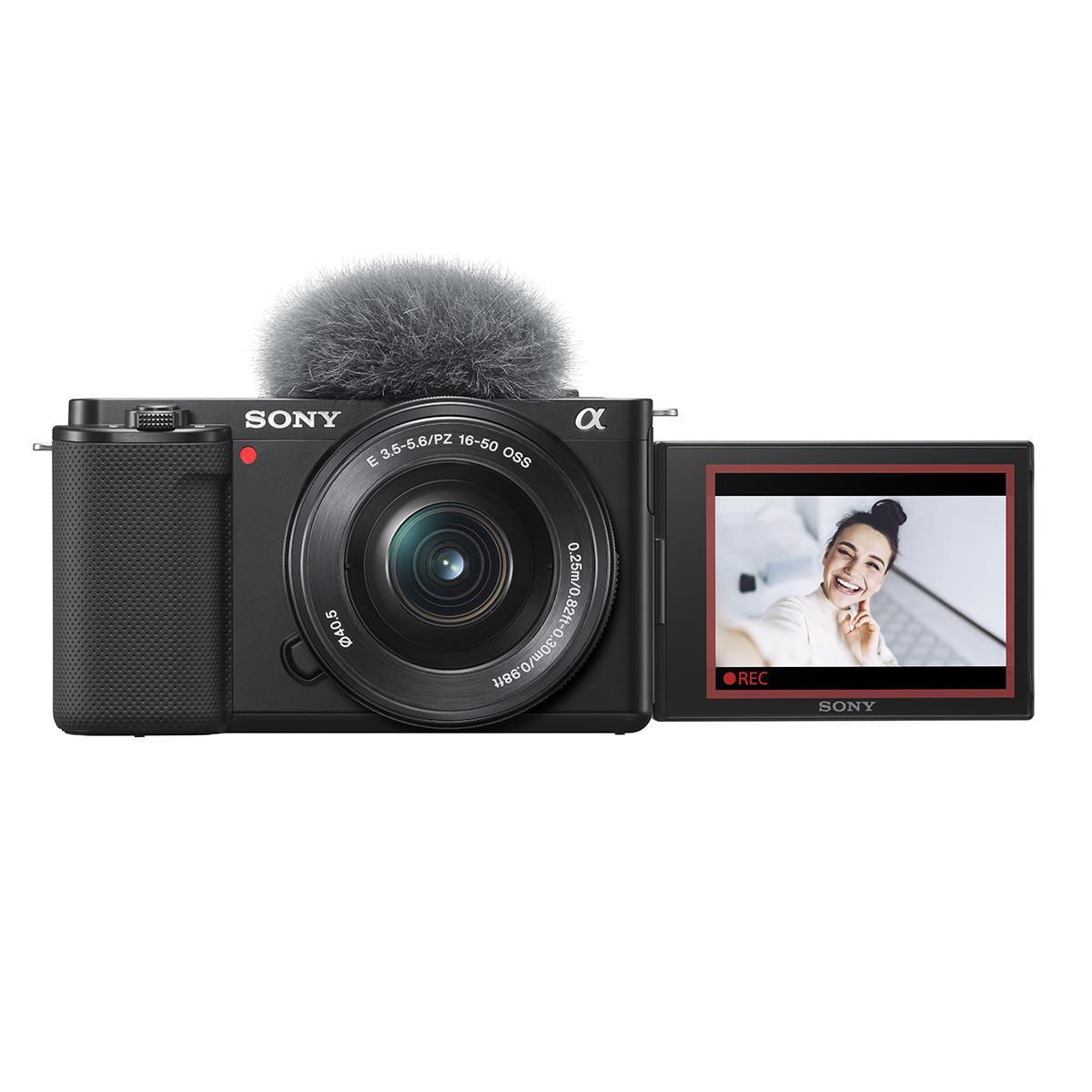 Sony Alpha ZV-E10 Camera with 16-50mm Lens Kit - Black