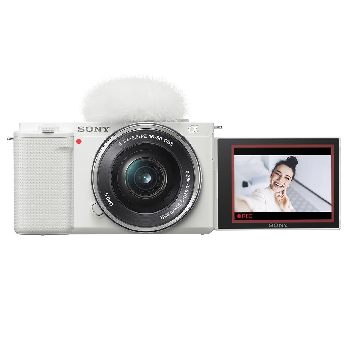 Sony Alpha ZV-E10 Camera with 16-50mm Lens Kit (White)